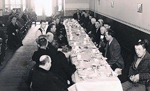 historical men eating medium